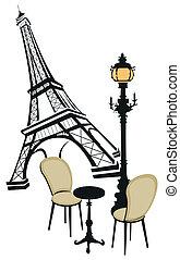símbolos, de, paris