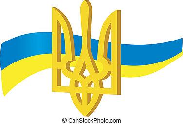 símbolos, de, ucrânia