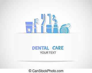 símbolos, dental, fundo, cuidado