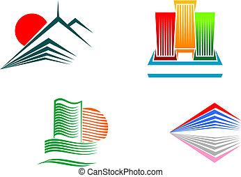 símbolos, edifícios