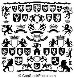 símbolos, elementos, heráldica
