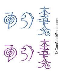 símbolos, energia, reiki, cura