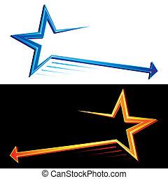 símbolos, estrela