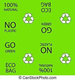 símbolos, experiência., ecológico, verde