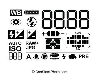 símbolos, foto, colección