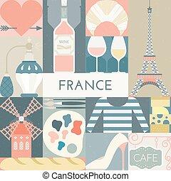 símbolos, francés