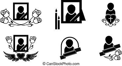 símbolos, funeral