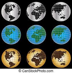 símbolos, globo