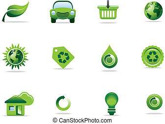 símbolos, iconos de la tela