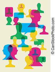 símbolos, interacción, social
