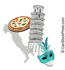 símbolos, itália