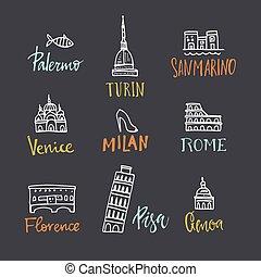 símbolos, italiano