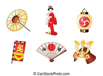 símbolos, japão