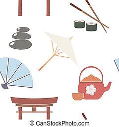 símbolos, japonés, plano de fondo