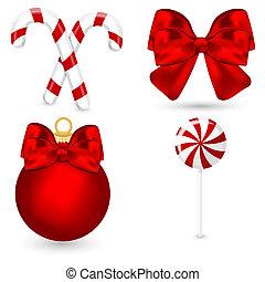 símbolos, jogo, elements., ícones, decoração, vetorial, natal