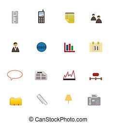 símbolos, jogo, negócio, ícone
