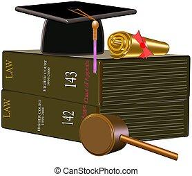 símbolos, lei, grad