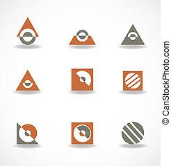 símbolos, logotipo, jogo