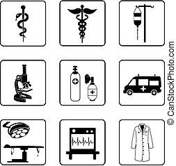 símbolos, médico