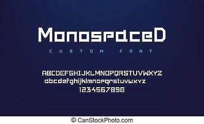 símbolos, minúscula, geométrico, headers., tipografía, ...