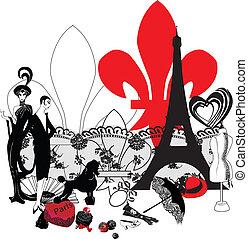 símbolos, miniatura, paris