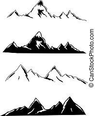 símbolos, montanha