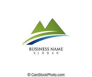 símbolos, montanha, logotipo