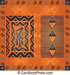 símbolos, nacional, cultural, africano