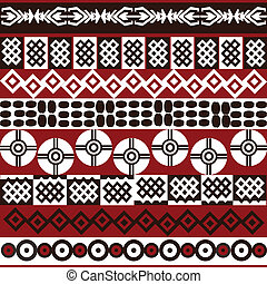 símbolos, padrão, étnico, africano