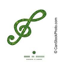 símbolos, padrão, musical, clef, g, ecologia, vetorial, ...