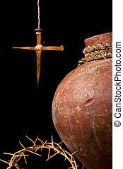 símbolos, pascua, cristiano