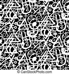 símbolos, patrón, alquimia