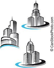símbolos, rascacielos