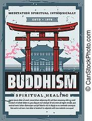 símbolos, religión, japón, shinto, cultura