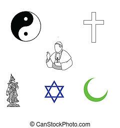 símbolos, religiosas