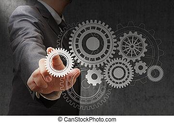 símbolos, rodas, engenharia, cor