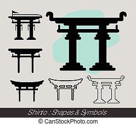 símbolos, shinto
