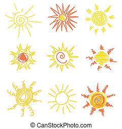 símbolos, sol