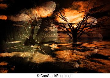 símbolos, surreal, paisagem