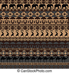 símbolos, tradicional, ornamentos, textura, africano