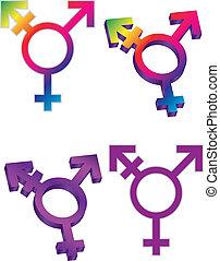 símbolos, transgender, ilustración