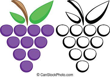 símbolos, uvas