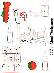 símbolos, vistas, portugal