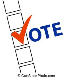 símbolos, votación