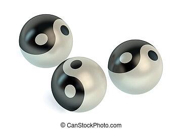 símbolos, yang yin