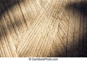 sín, homok, részletez, kerék