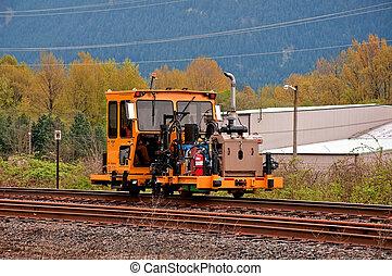 sín, munka, vasút, gépezet