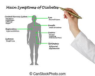 síntomas, principal,  diabetes