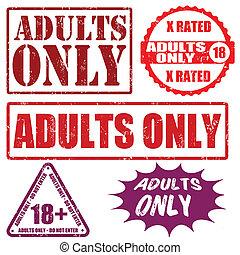só adultos, selos