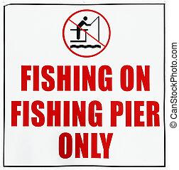 só, cais, pesca, sinal